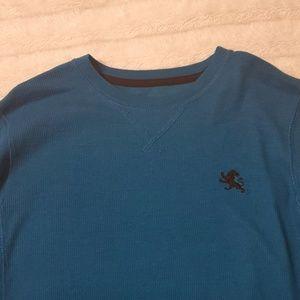 Express Shirts - Express Men's Waffle Thermal Shirt Blue Sz Small